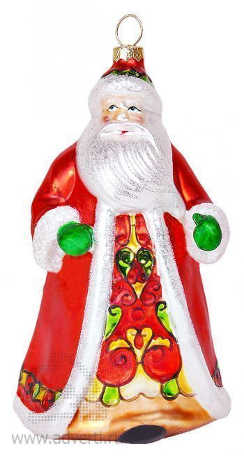Игрушка елочная ручной работы «Дед Мороз» в деревянной коробке