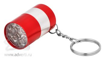 Брелок-фонарик «Бочонок», красный