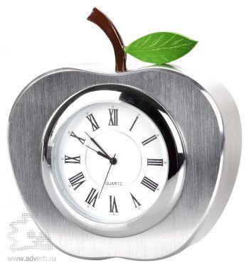 Часы настольные «Яблоко», серебристые