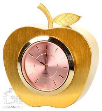 Часы настольные «Яблоко», золотистые