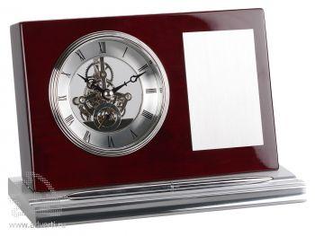 Часы настольные «Webster» с шильдом