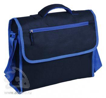 Конференц-сумка «Active» с карманом на молнии, синяя