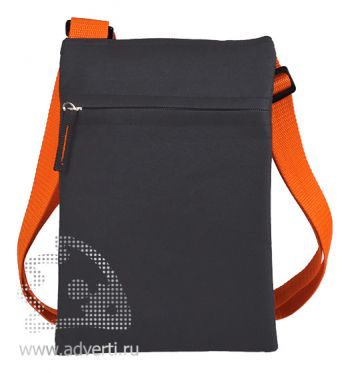 Сумка для документов «Active» с карманом на молнии, оранжевый
