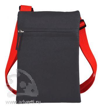 Сумка для документов «Active» с карманом на молнии, красный