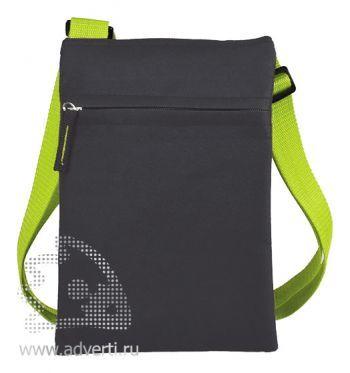 Сумка для документов «Active» с карманом на молнии, зеленый