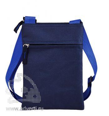 Сумка для документов «Active» с карманом на молнии, синий