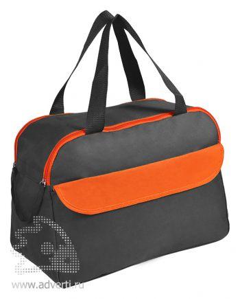 Сумка дорожная/спортивная «Active» с 2 карманами, оранжевая