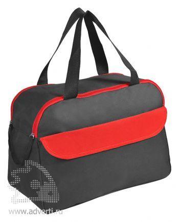 Сумка дорожная/спортивная «Active» с 2 карманами, красная