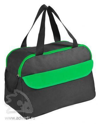Сумка дорожная/спортивная «Active» с 2 карманами, зеленая
