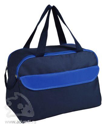 Сумка дорожная/спортивная «Active» с 2 карманами, синяя