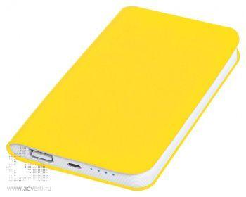 Универсальное зарядное устройство «Softi» 4000 mAh, желтое