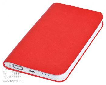 Универсальное зарядное устройство «Softi» 4000 mAh, красное