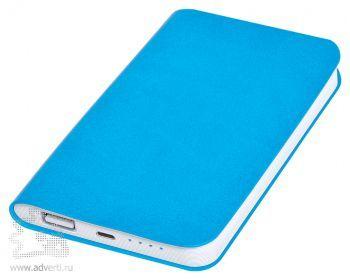 Универсальное зарядное устройство «Softi» 4000 mAh, голубое