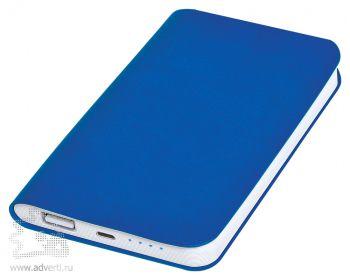 Универсальное зарядное устройство «Softi» 4000 mAh, синее