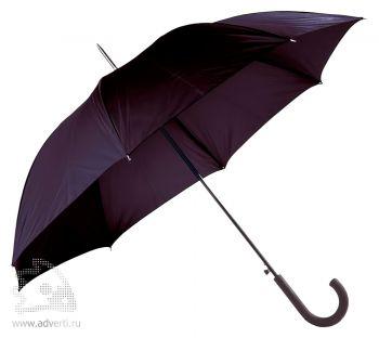 Зонт-трость «Unit Wind», полуавтомат, черный