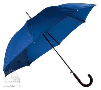 Зонт-трость «Unit Wind», полуавтомат, синий