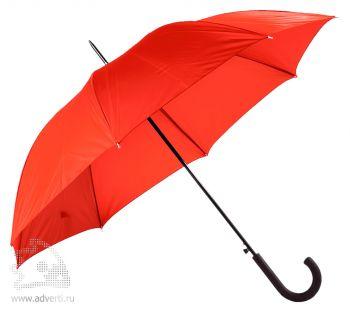 Зонт-трость «Unit Wind», полуавтомат, красный