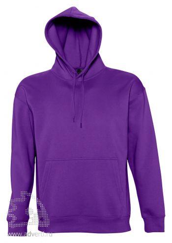 Толстовка с капюшоном «Slam 320», унисекс, Sol's, Франция, фиолетовая