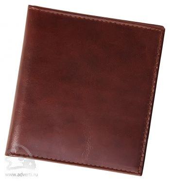 Футляр для пластиковых карт, коричневый