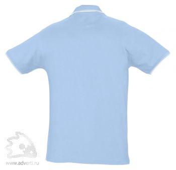 Рубашка поло «Practice 270» с контрастной отделкой, мужская, спина
