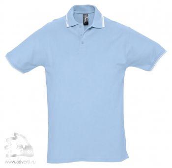Рубашка поло «Practice 270» с контрастной отделкой, мужская, голубая