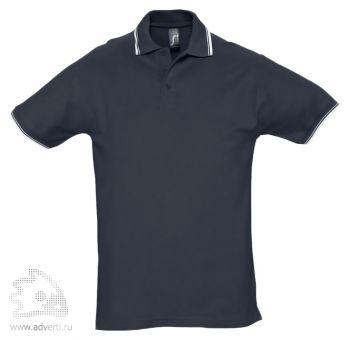 Рубашка поло «Practice 270» с контрастной отделкой, мужская, темно-синяя