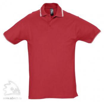 Рубашка поло «Practice 270» с контрастной отделкой, мужская, красная