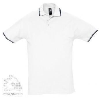 Рубашка поло «Practice 270» с контрастной отделкой, мужская, белая