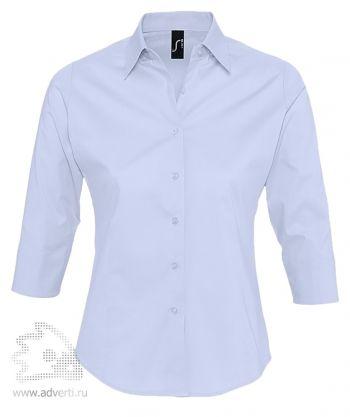 Рубашка с рукавом 3/4 «Effect 140», женская, голубая