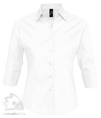 Рубашка с рукавом 3/4 «Effect 140», женская, белая