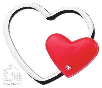 Брелок «Сердечко», красный