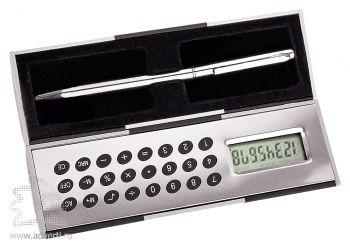 Магический калькулятор «Октант» с ручкой, серебристый