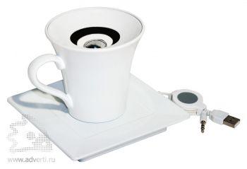 Колонка в форме кофейной чашки с блюдцем «Новая волна»