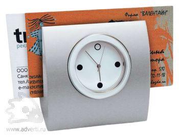 Настольные часы с подставкой для визиток
