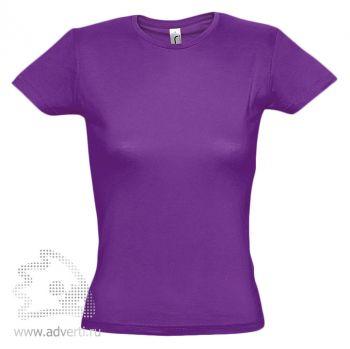 Футболка «Miss 150», женская, темно-фиолетовая
