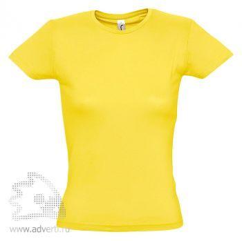 Футболка «Miss 150», женская, желтая