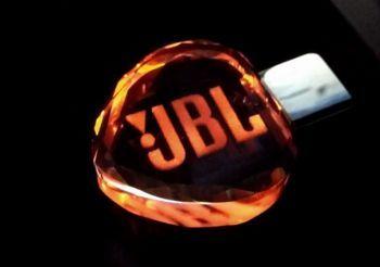 Флеш-накопитель Сердце, под гравировку 3D логотипа, под гравировку 3D логотипа, оранжевый