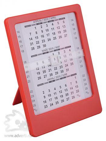 Настольный календарь «Офисный помощник», красный
