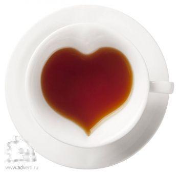 Кофейный набор «Сердце» на две персоны, вид сверху
