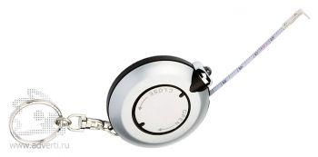 Брелок-рулетка с LED-фонариком