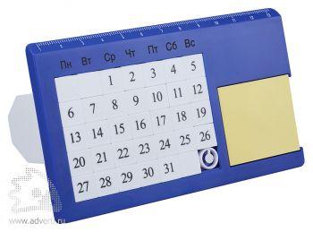 «Вечный» настольный календарь «Плано», синий