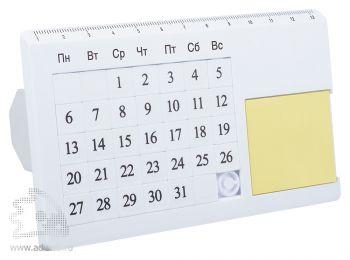 «Вечный» настольный календарь «Плано», белый