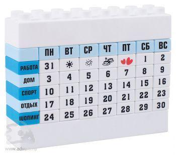 Настольный календарь в виде конструктора