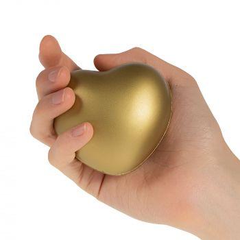 Антистресс «Сердце», золотистый, в руке
