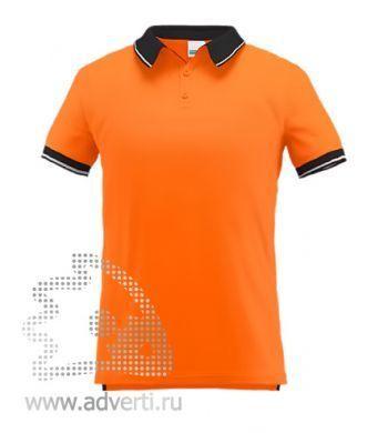 Рубашка поло «Stan Contrast», мужская, оранжевая