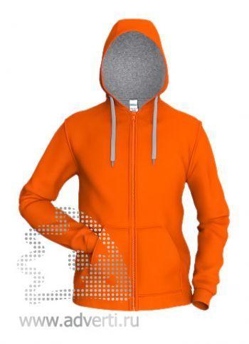 Толстовка «Stan Style», мужская, оранжевая с серым