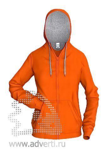 Толстовка «Stan Style W», женская, оранжевая с серым