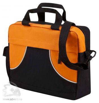 Сумка для конференций «Share», оранжевая с черным