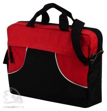 Сумка для конференций «Share», красная с черным