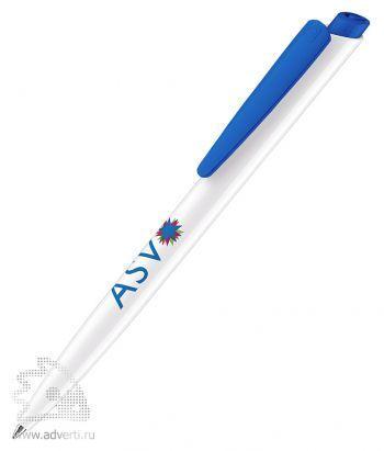 Шариковая ручка «Dart Polished Basic», синяя, пример нанесения